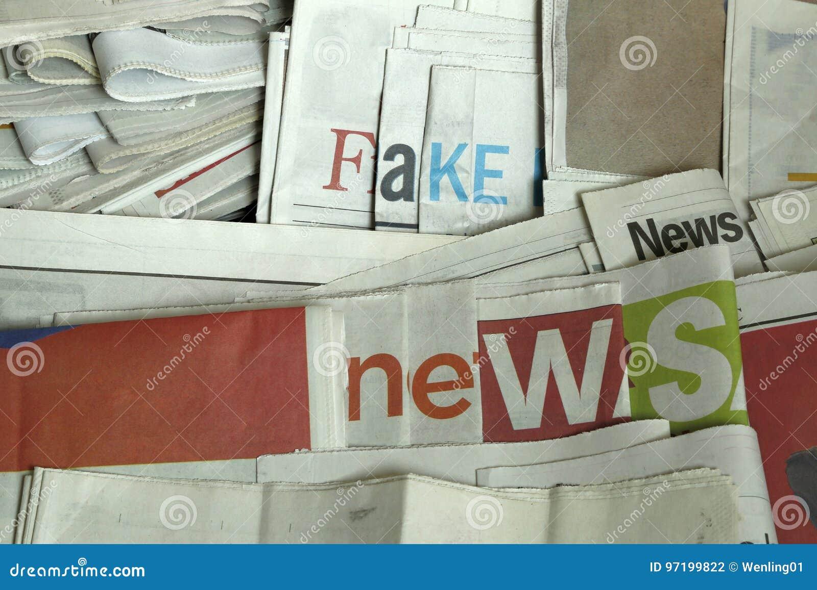 Fake news on newspapers
