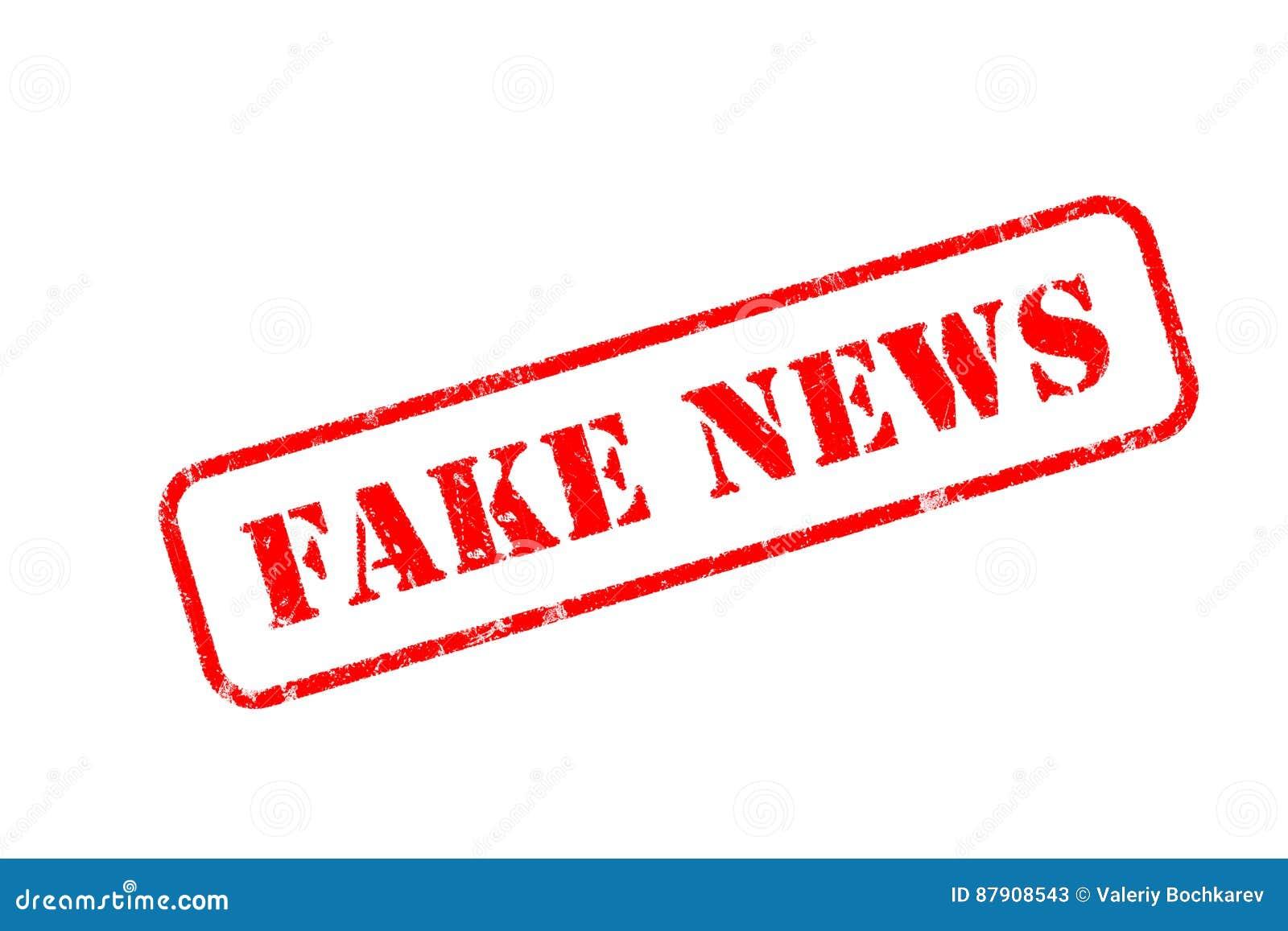 Fake News Rubber Stamp Over A White Background Stock Illustration Illustration Of White Design 87908543