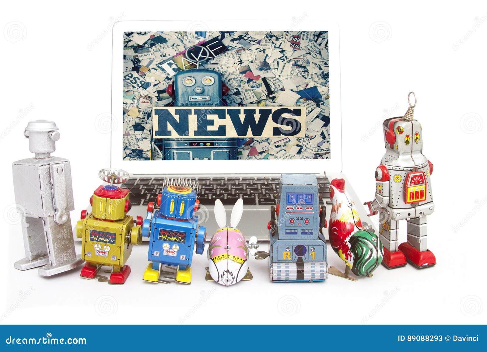 Fake news stock image  Image of robotic, fraud, newspaper