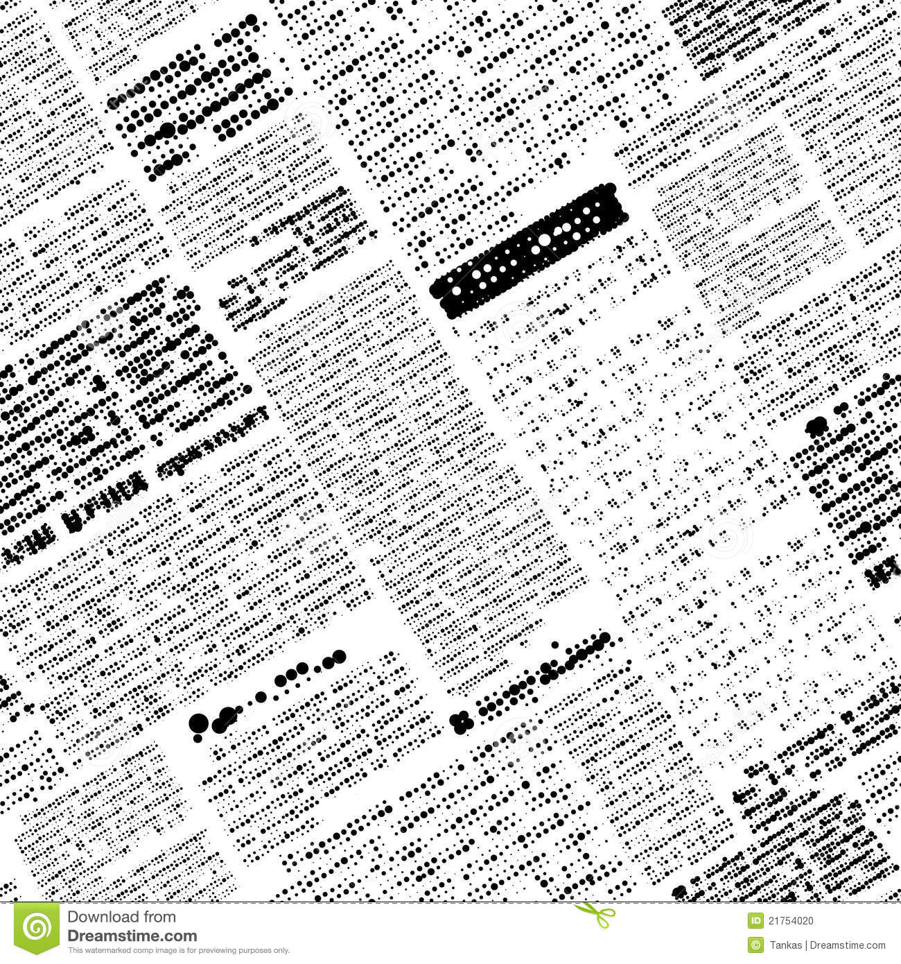 fake newspaper stock vector. illustration of seamless - 21754020