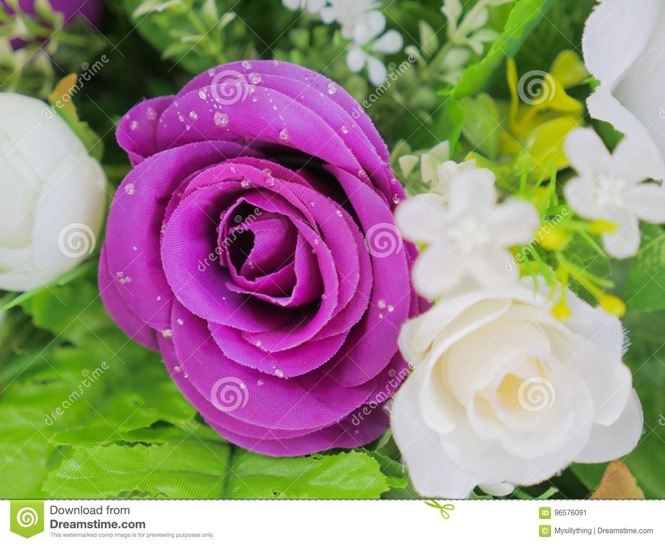 Fake purple rose flowers with artificial water drop stock image download fake purple rose flowers with artificial water drop stock image image of purple izmirmasajfo