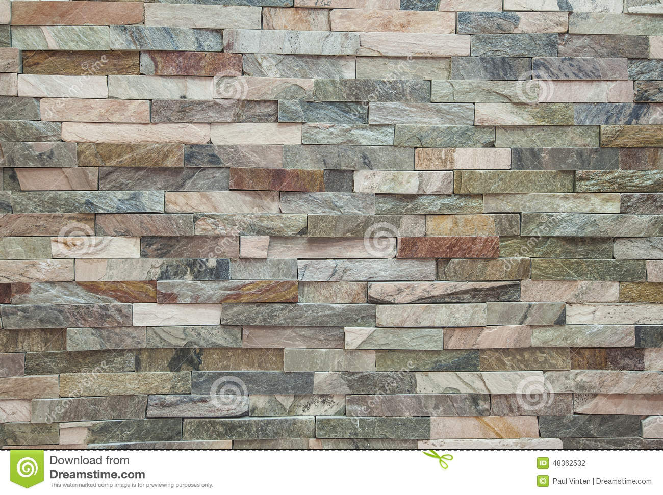 Fake stone wall brick background wallpaper stock photo for Meuble chez brick