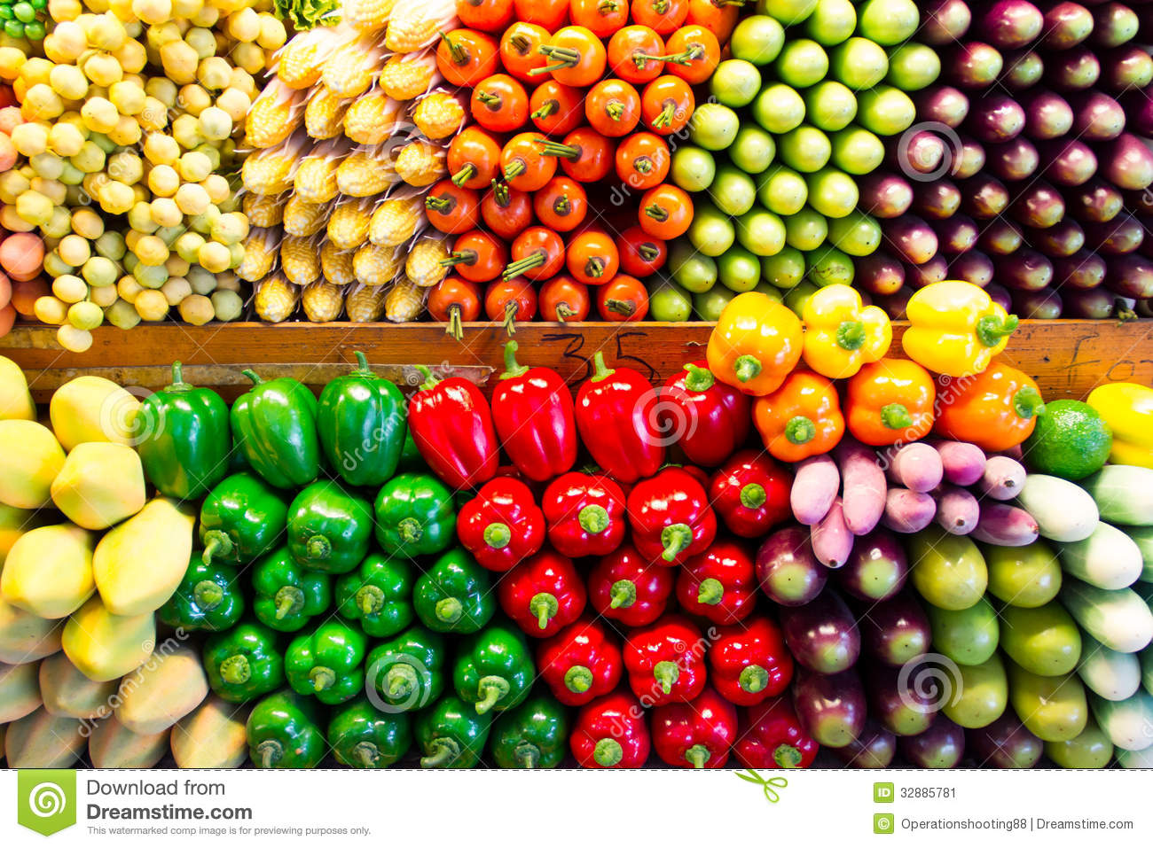 Fake Vegetables And Fruits Stock Image - Image: 32885781
