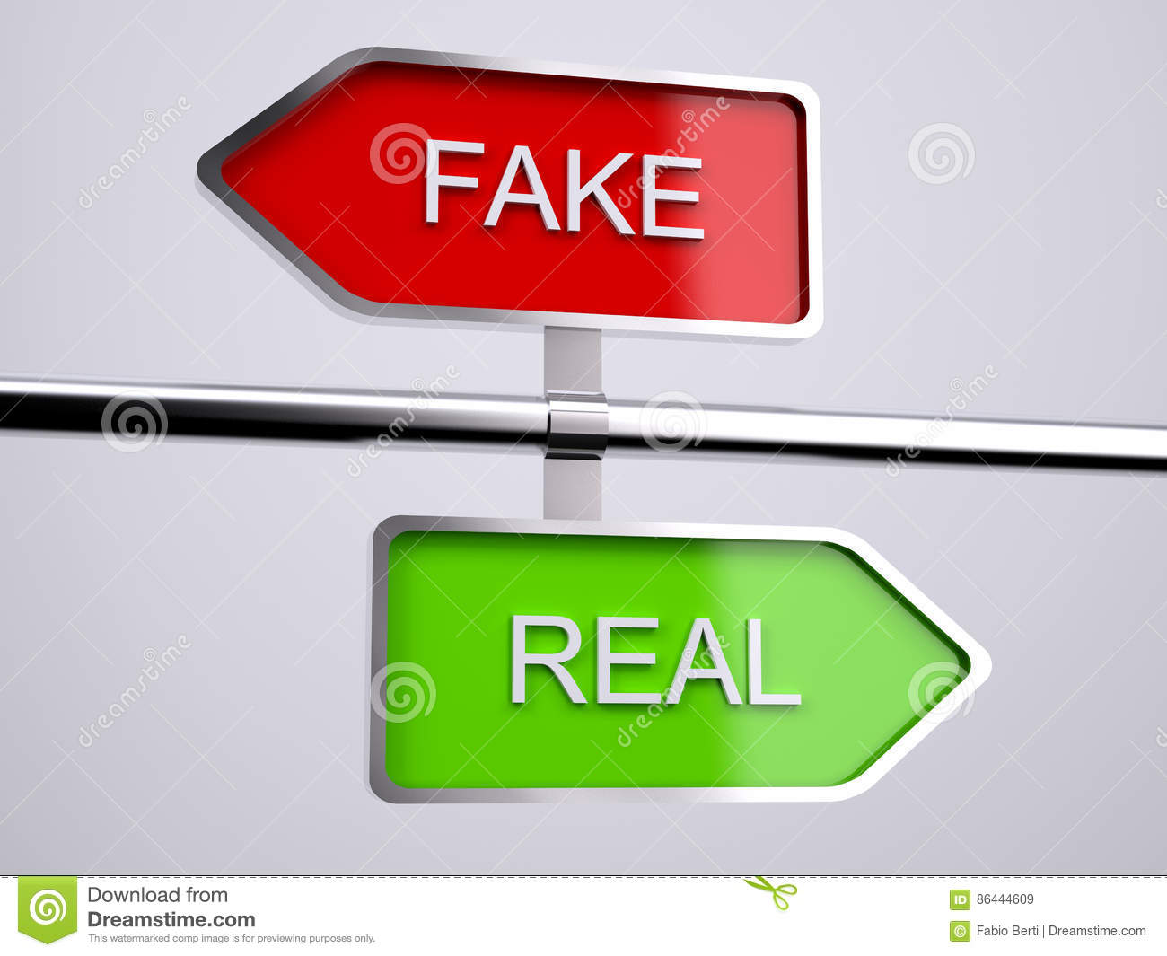 3f95d6b3e8f Fake VS Real Signs stock illustration. Illustration of authenticity ...