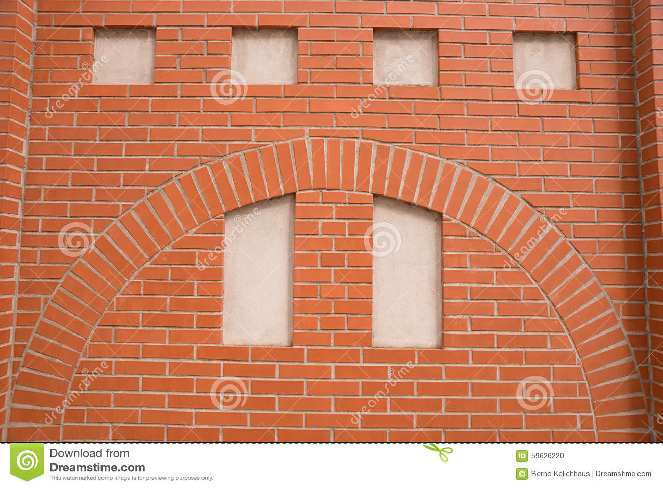 Fake window in a brick wall stock photo image 59626220 for Dimensions fenetre standard