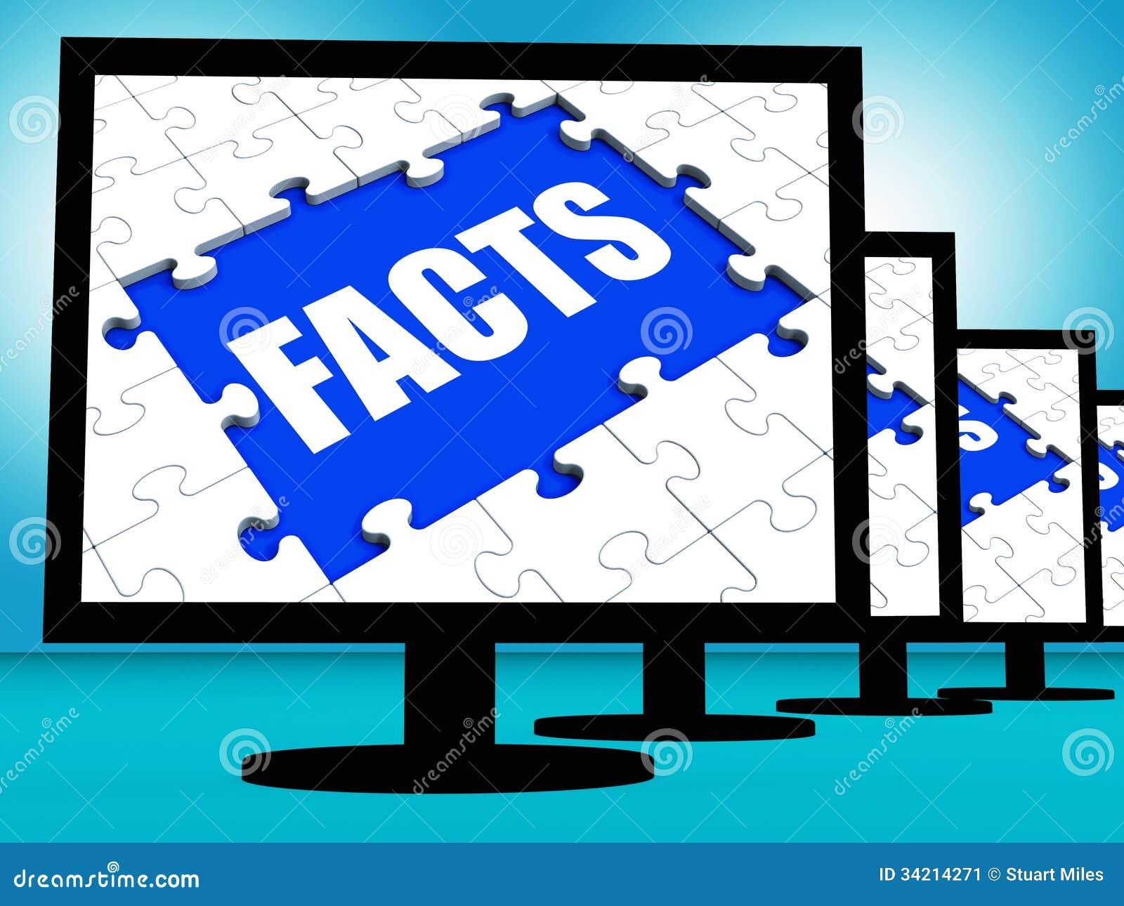Fakta övervakar vishet och kunskap för information om showdata