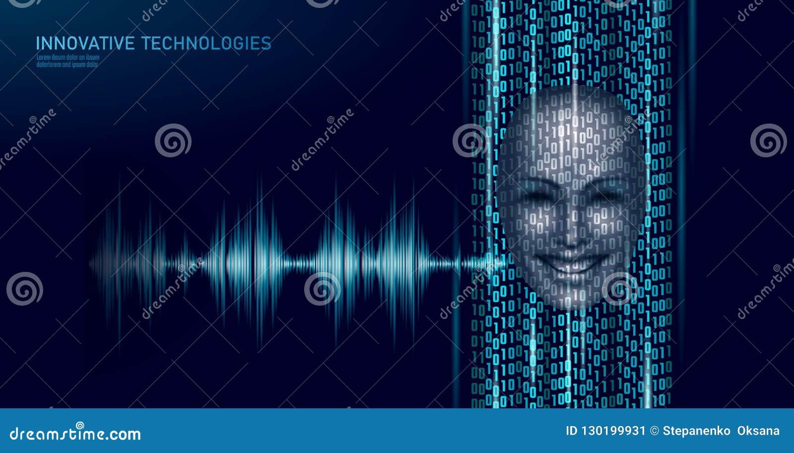 Faktisk affärsidé för teknologi för service för assistentstämmaerkännande Hjälp för robot för konstgjord intelligens för AI att a