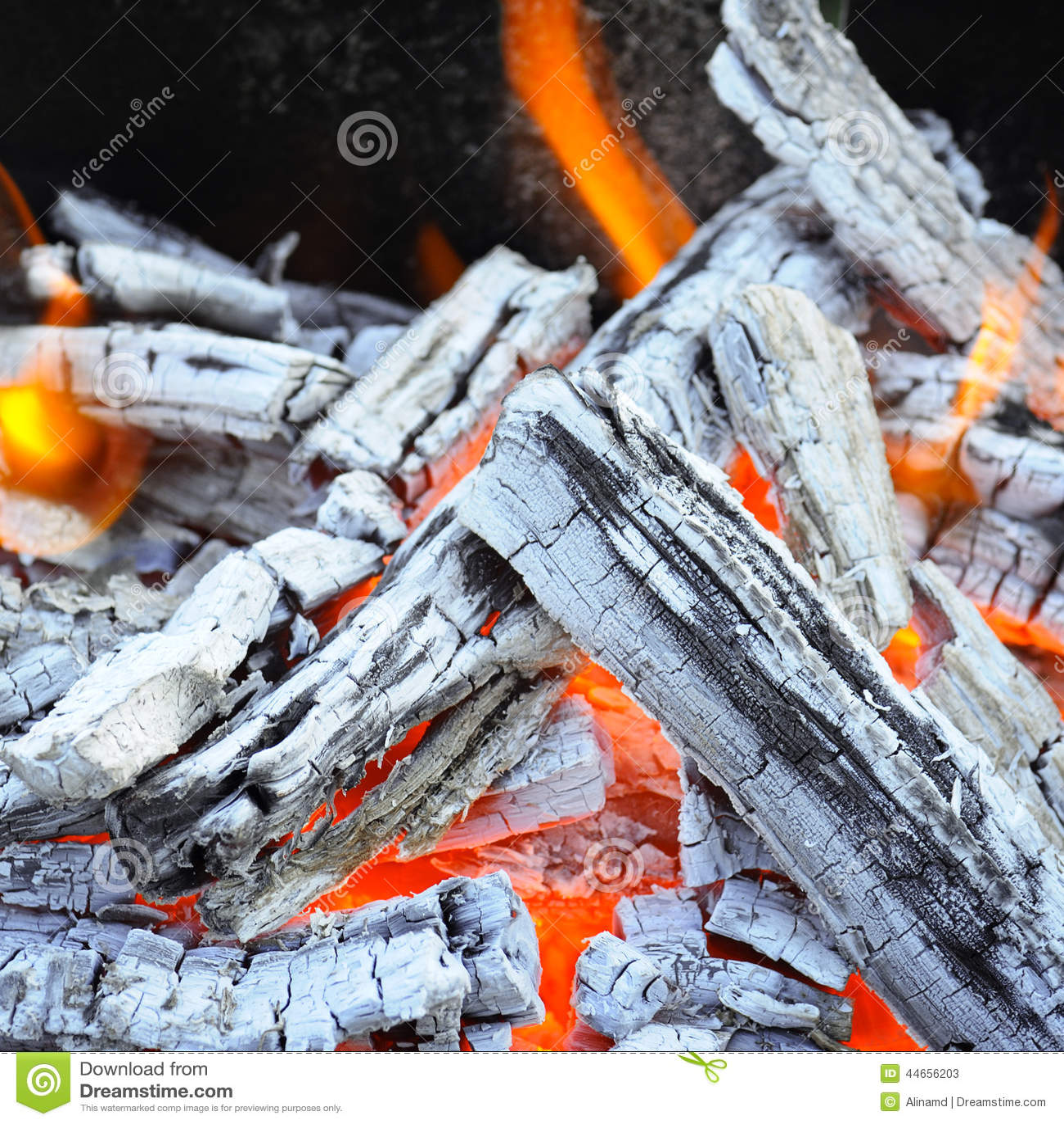 Falò e carbone di legno