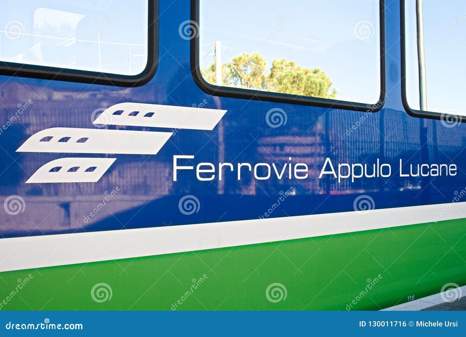 FAL, Ferrovie Appulo Lucane, réseau ferroviaire italien, trains reliant Bari, Puglia vers Matera, Basilicate