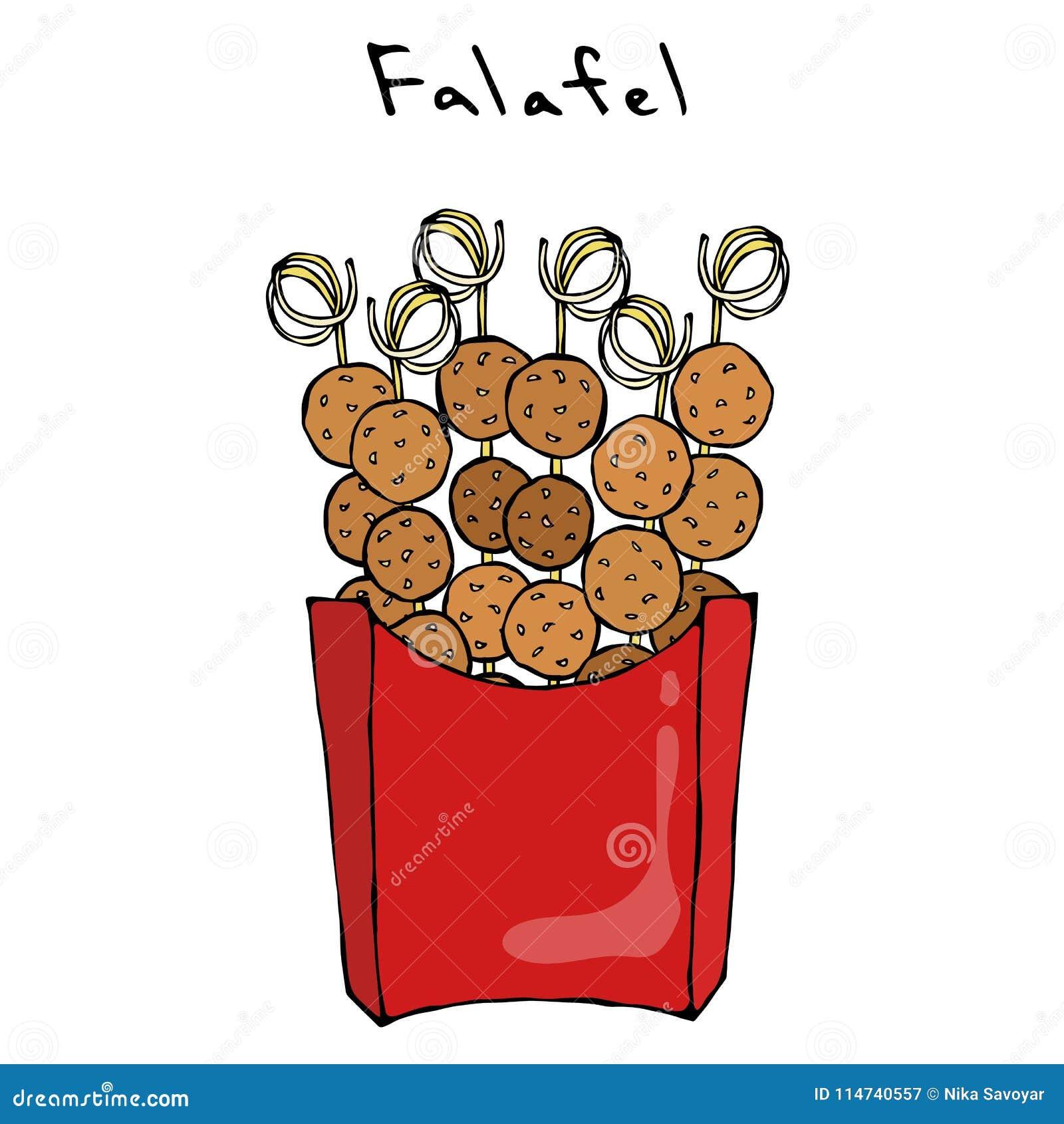 Falafel Auf Einer Aufsteckspindel In Einem Kasten Grill BBQ-Falafel ...