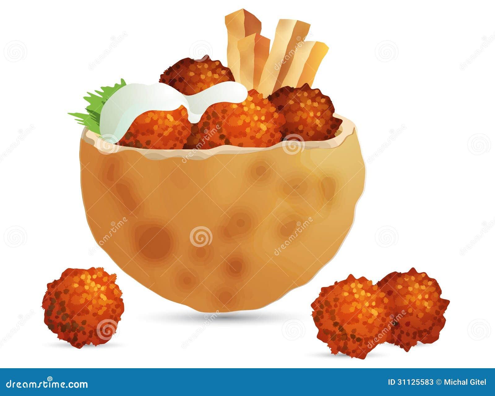 Falafel Stock Photos - Image: 31125583 Falafel Clipart