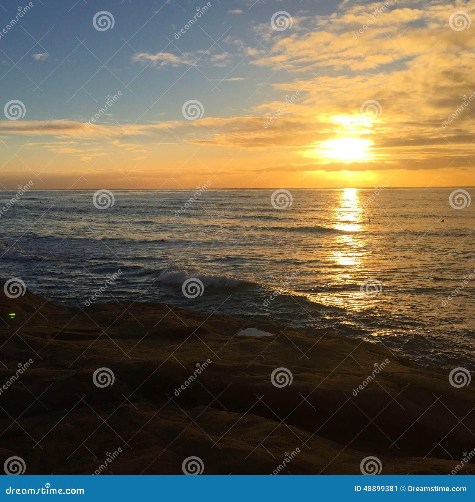 Falaises de coucher du soleil, San Diego
