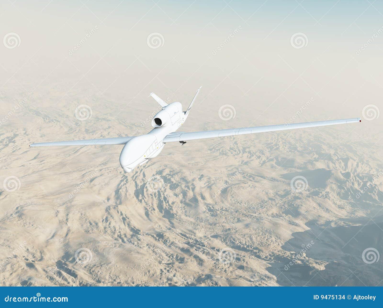 Falcão global de RQ-4A no vôo