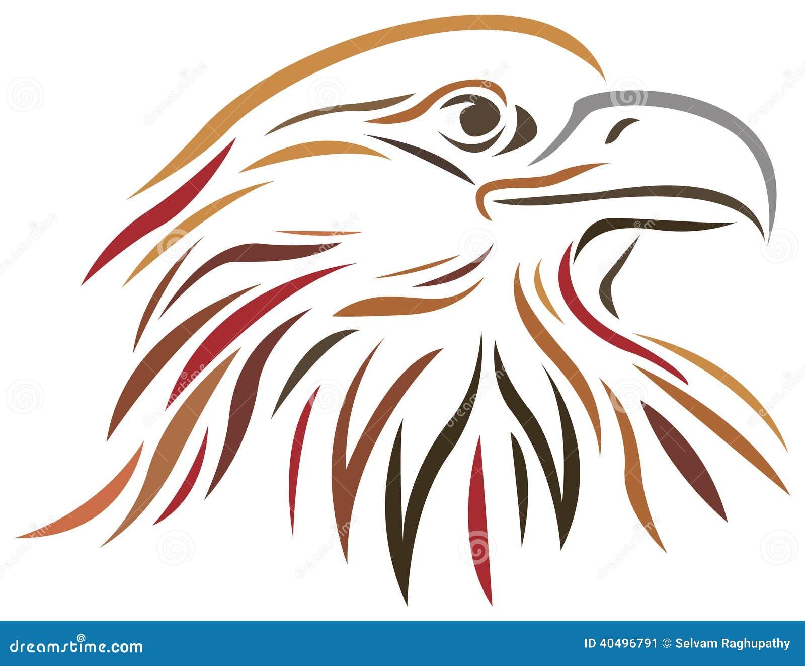 Line Art Brush : Falcon stock vector image