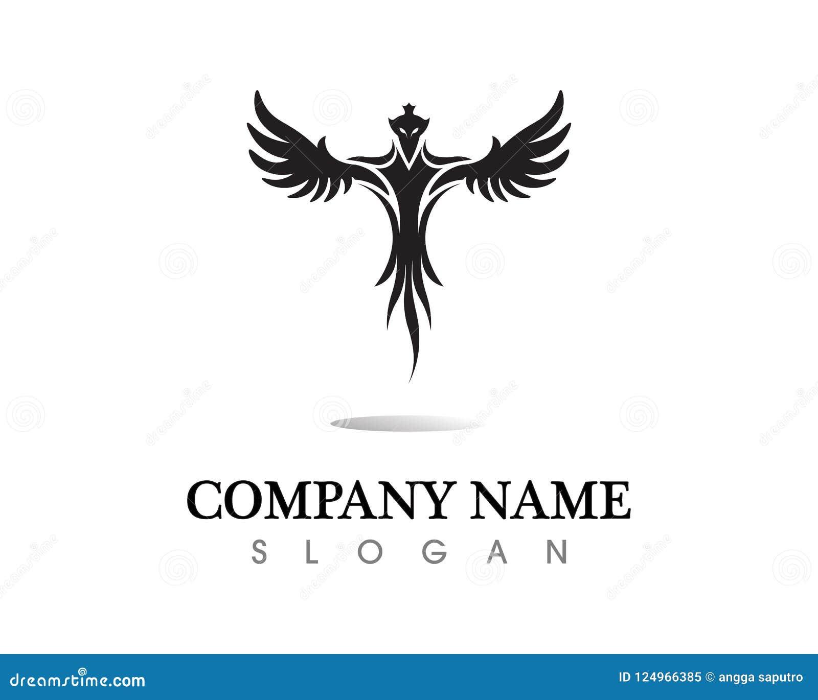 Falcon Eagle Bird Logo Template Vector Icon Stock Vector