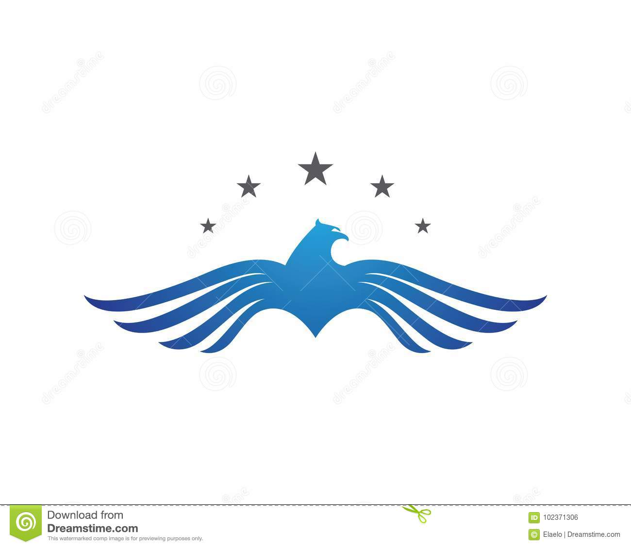 falcon eagle bird logo template stock vector illustration of