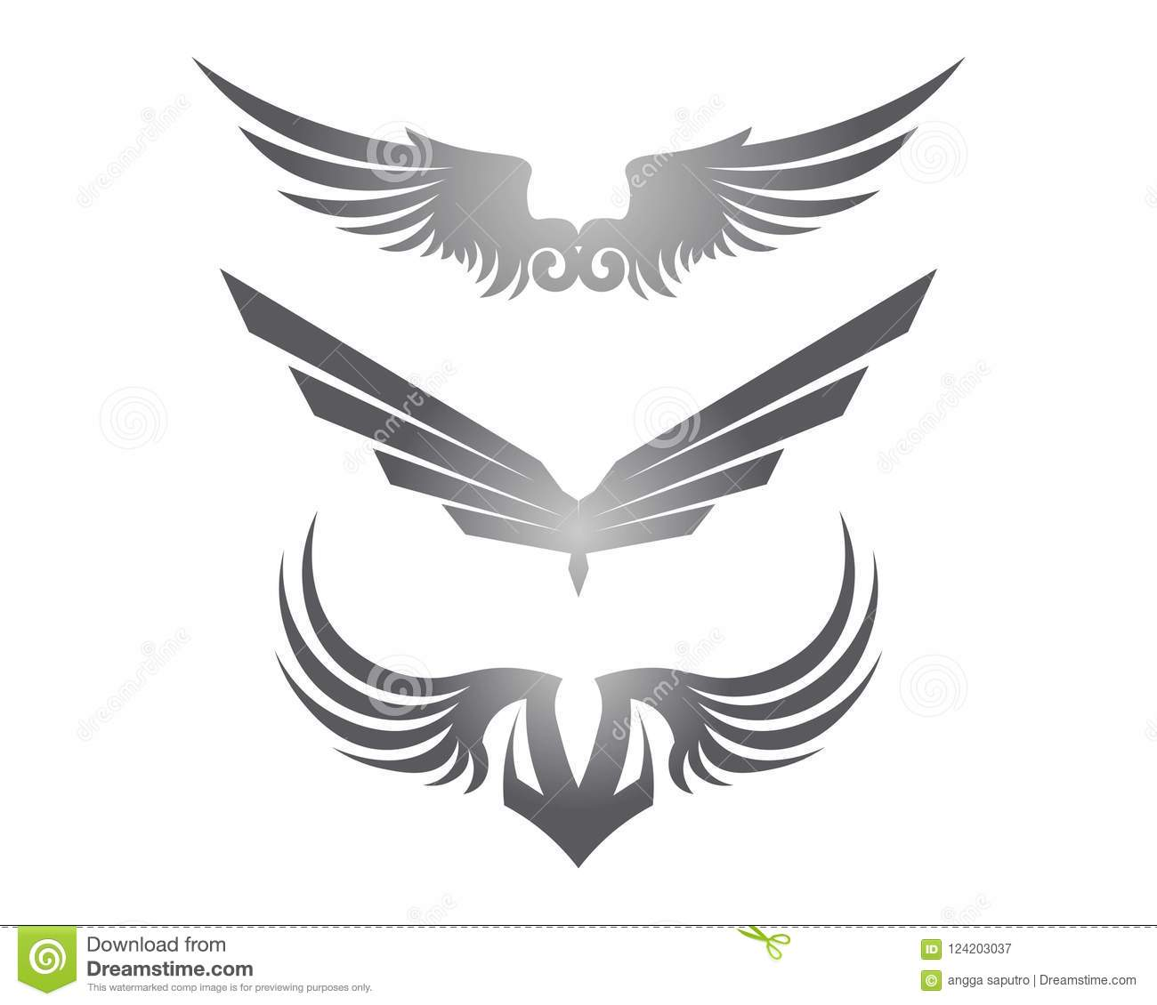 falcon eagle bird logo template vector icon stock vector