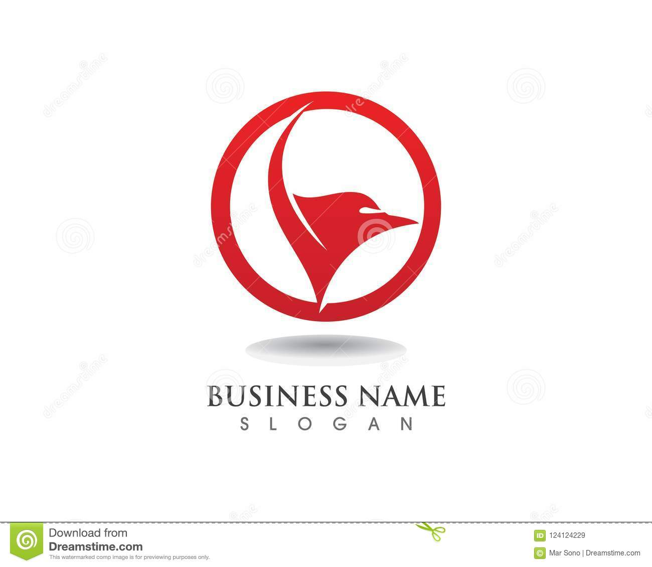 falcon eagle bird logo template vector icons wing stock vector