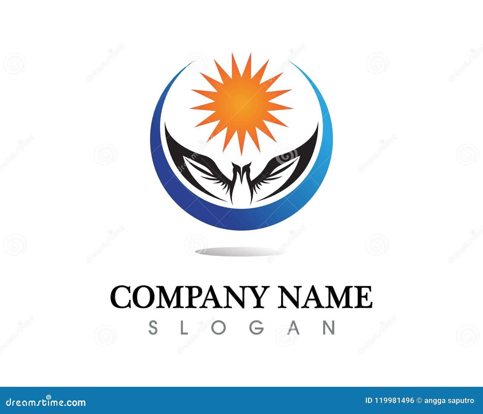 falcon wing logo template vector icon design stock vector