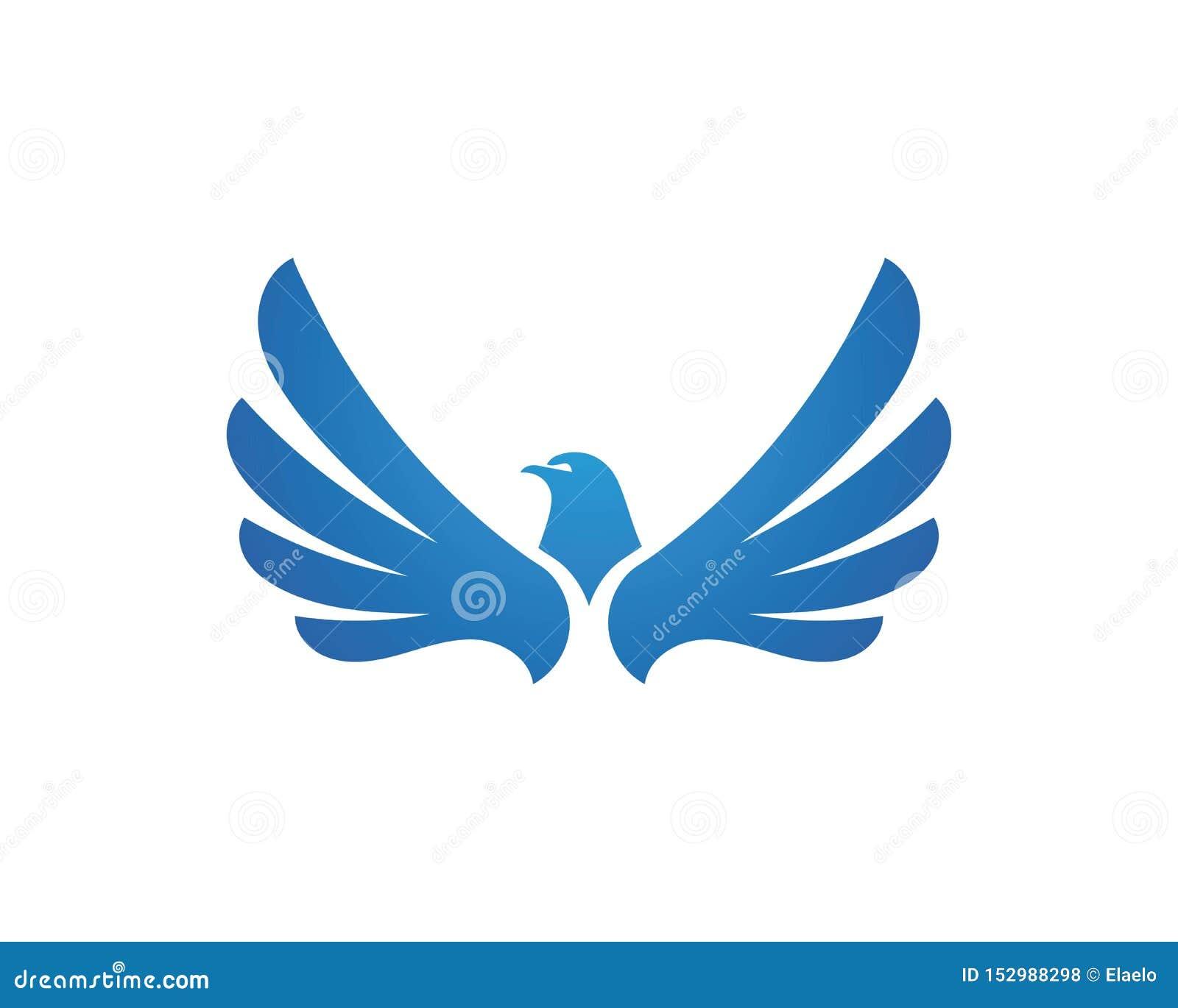wing Falcon Logo Template vector
