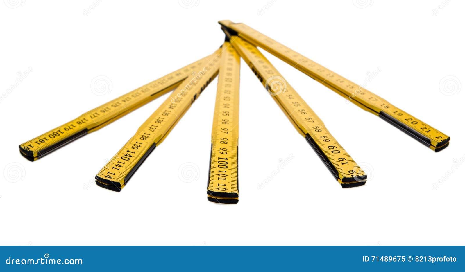 Falcowanie władca odizolowywająca, żółta cieśli ` s reguła z centymetr liczbami