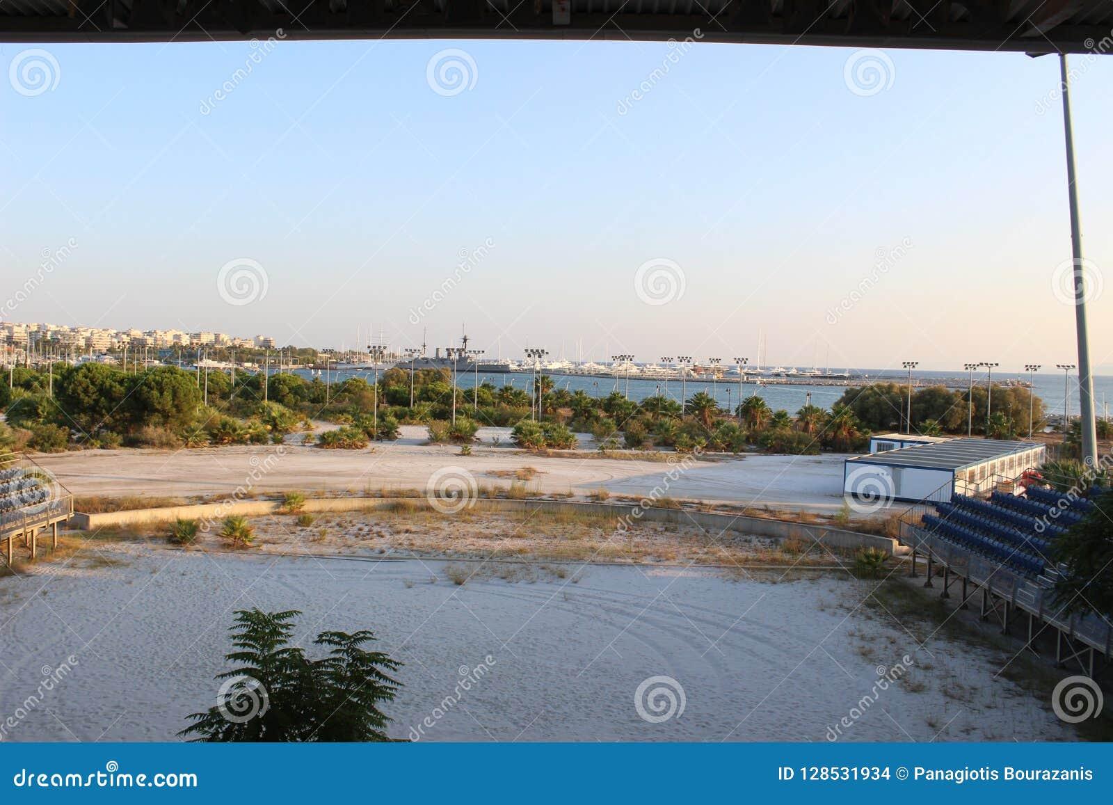 Faliro Plażowej siatkówki Olimpijski Centre - Faliro Nabrzeżnej strefy Olimpijski kompleks 14 roku po lato olimpiad Ateny 2004