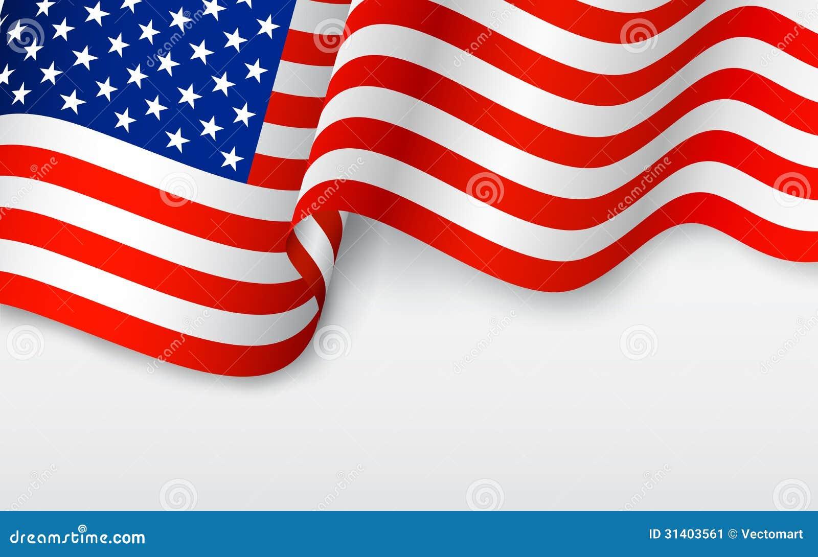 Falista flaga amerykańska