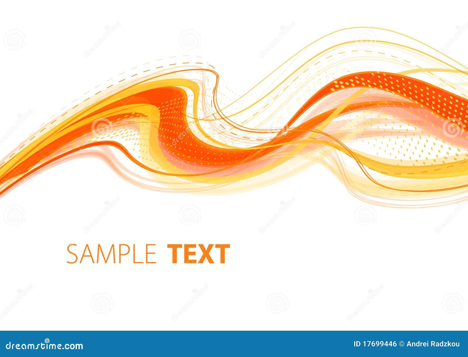 Falisty pomarańczowy szablon
