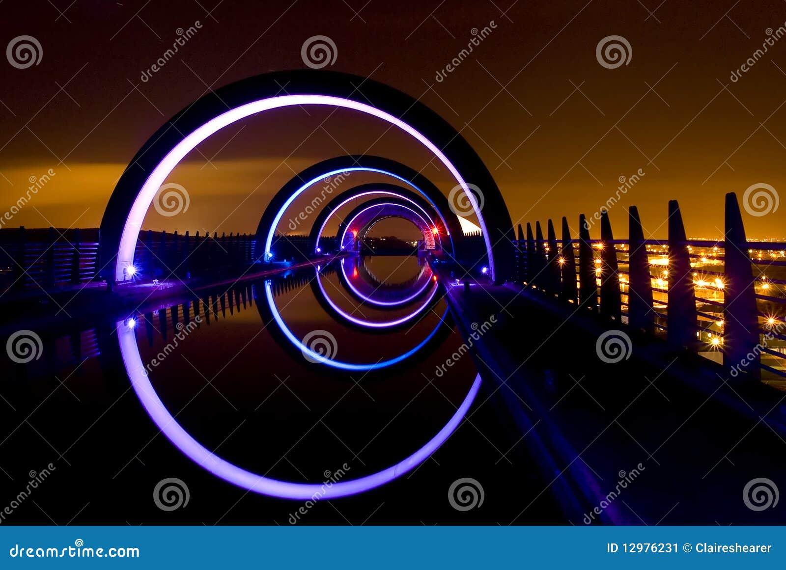 Falkirk Wheel At Night Stock Image - Image: 12976231