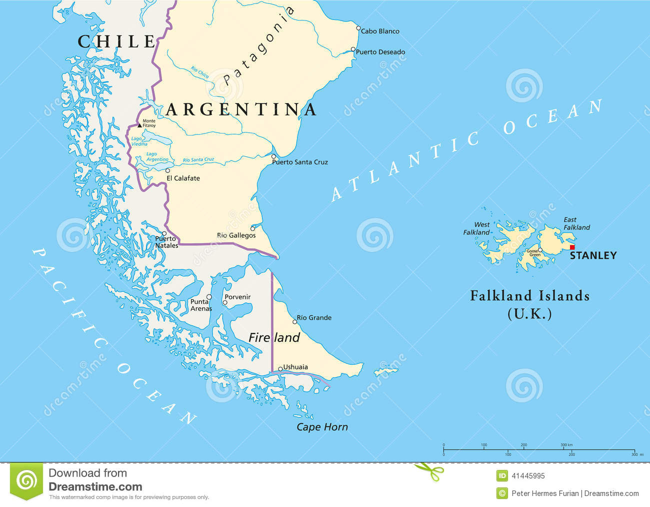 Fitzroy South falkland Islands City Falkland Islands Policikal Map