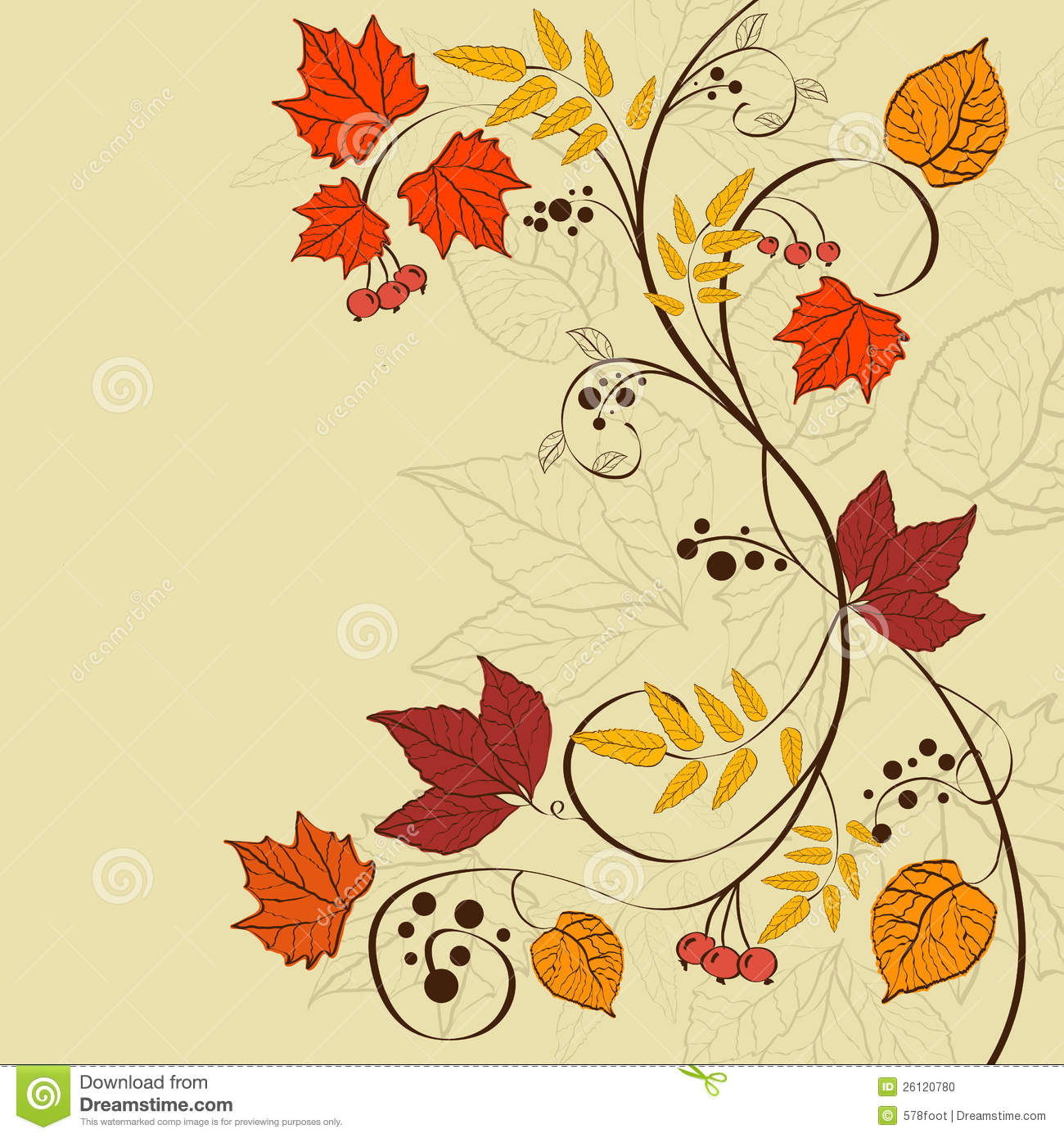 Fall Background Stock Photo - Image: 26120780