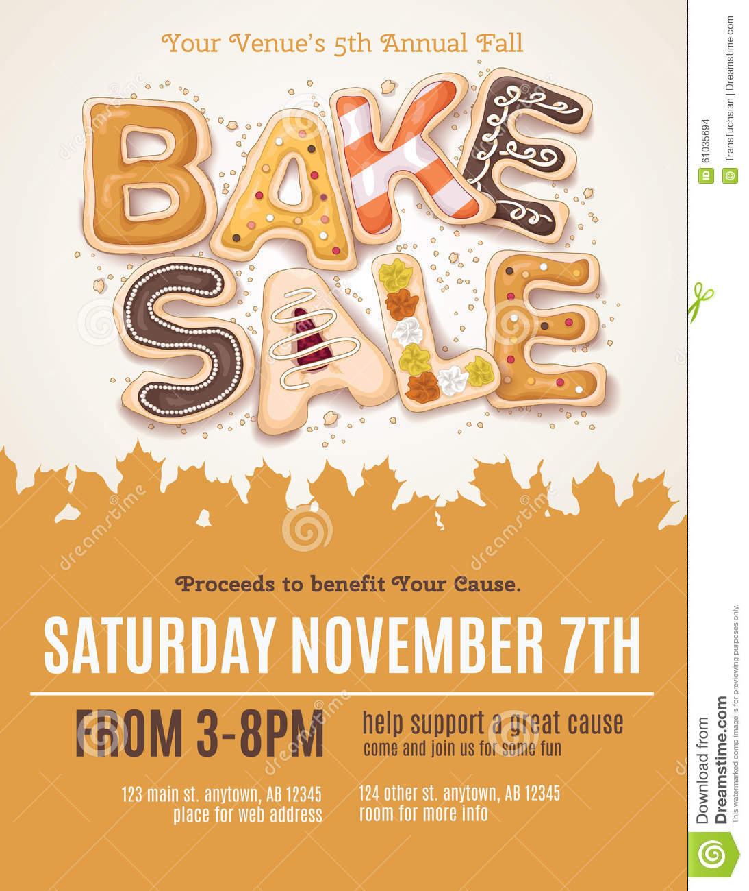flyer for bake sale thevillas co