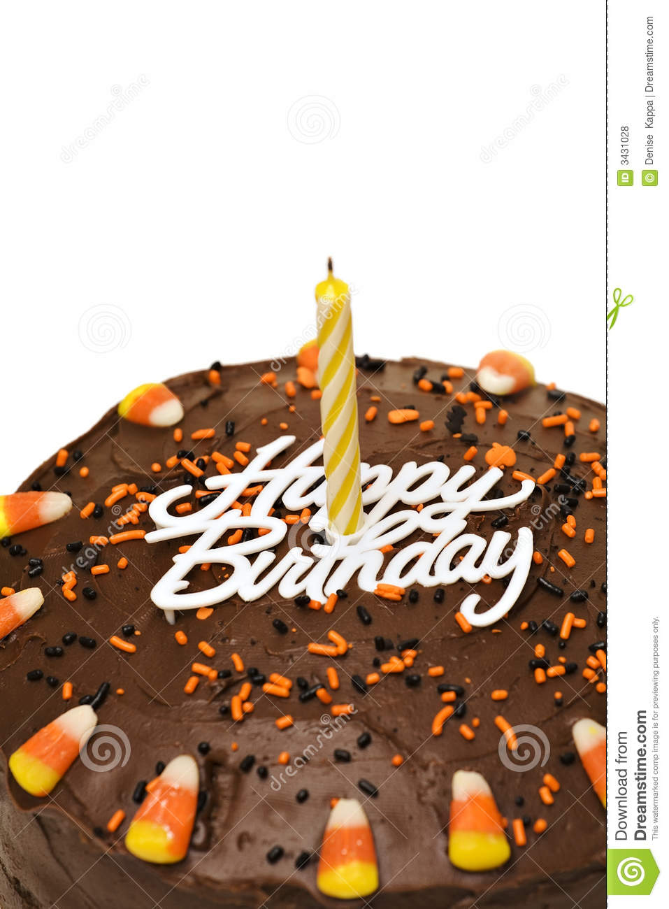 Superb Fall Birthday Cake Stock Photo Image Of Icing Candle 3431028 Funny Birthday Cards Online Elaedamsfinfo
