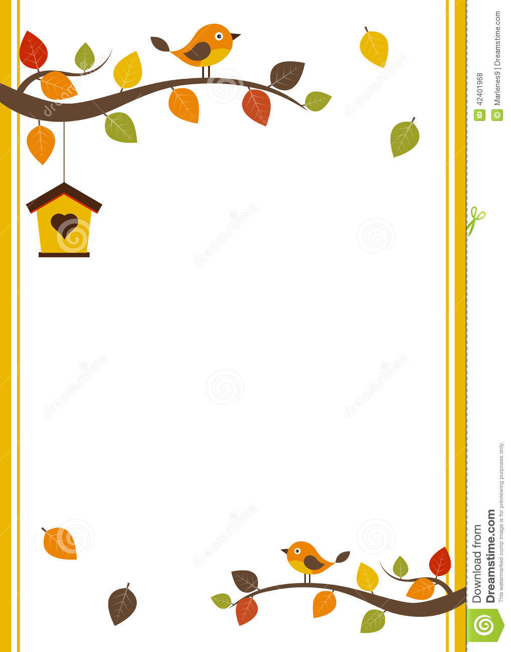 fall card template stock vector