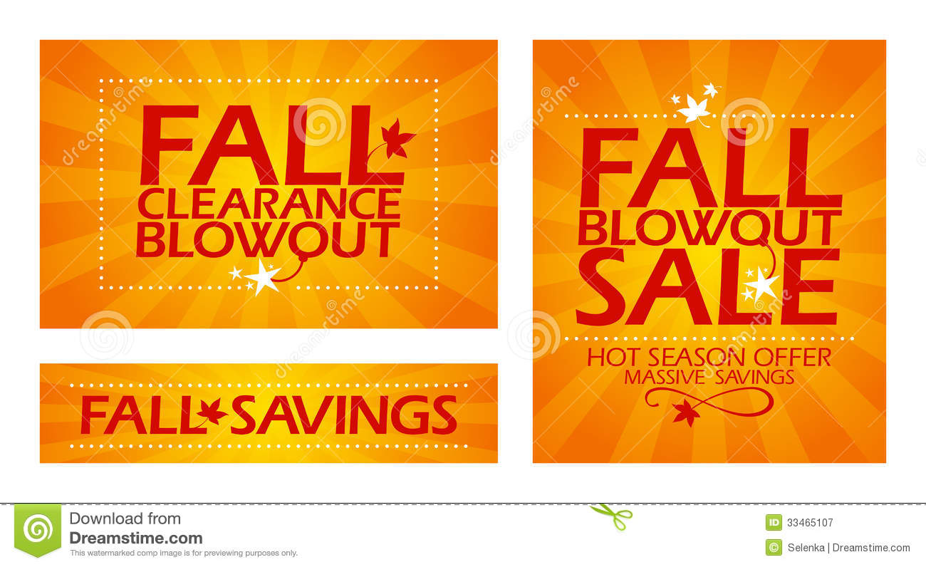 Fall clearance sale banners stock vector image 33465107 for Clearance craft supplies sale