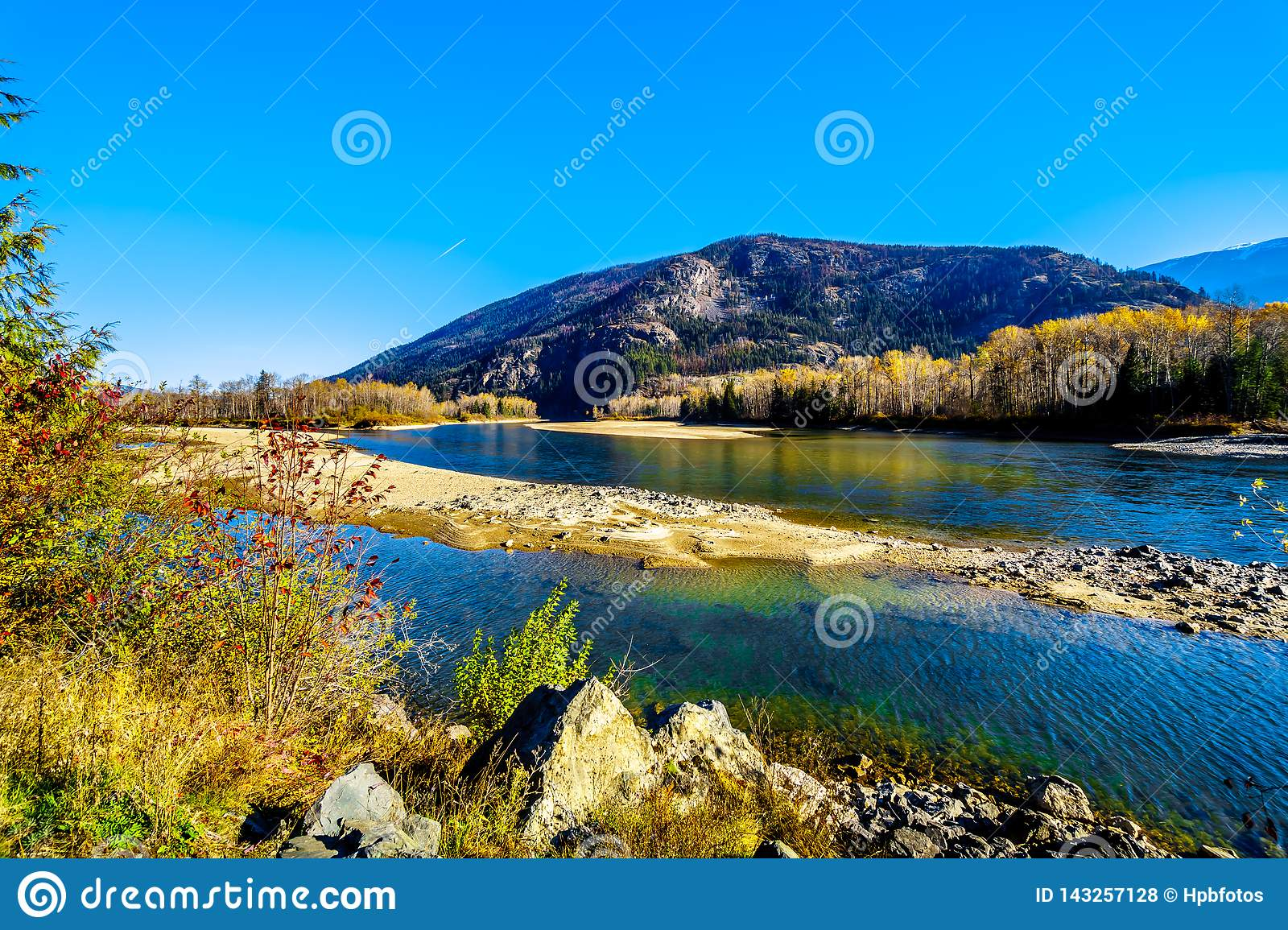 Fall colors around the North Thompson River between Barriere and Clearwater, BC