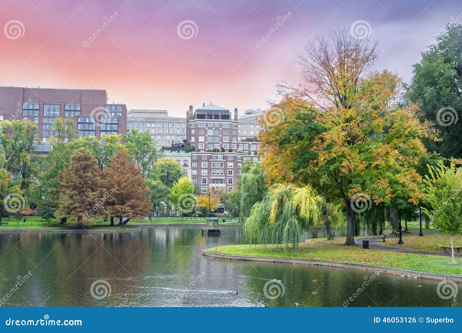 Fall colors Boston Common and Public Garden