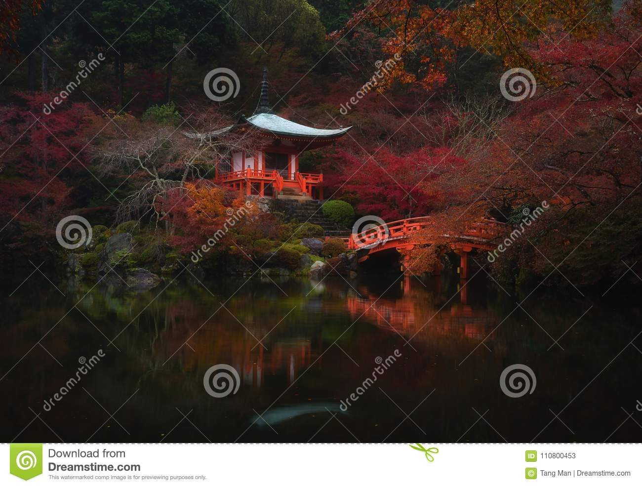 Fall colors and heaven on Earth at Daigoji temple in Kyoto, Japan.