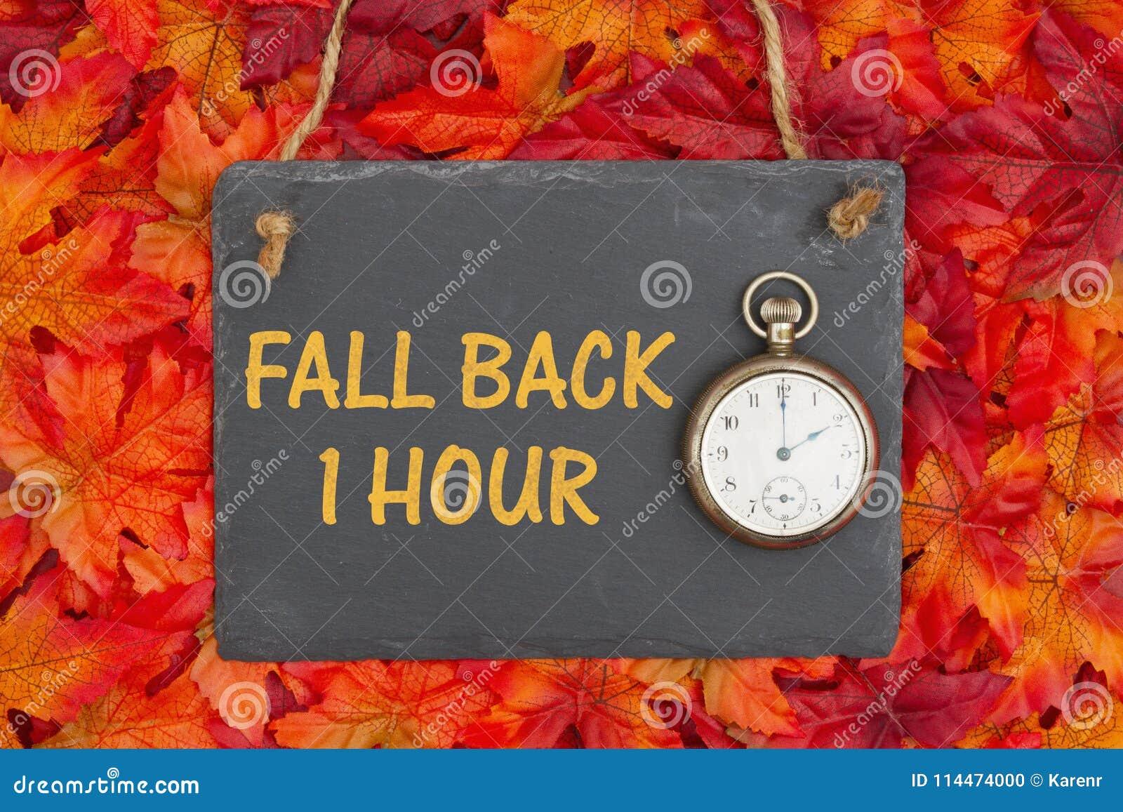 Fall Daylight Savings Time Change message