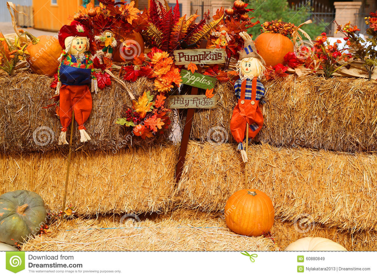 Fall Decorations Stock Image Image Of Fall Harvest 60880849