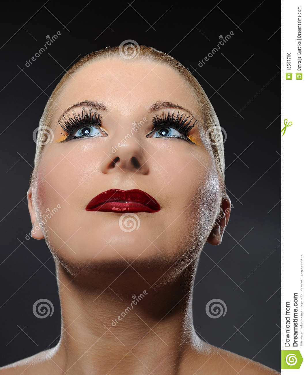 Fall Fashion Makeup Trend Stock Photo. Image Of Brows