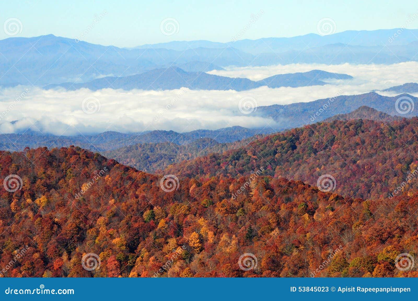 fall foliage blue ridge parkway stock image image of asheville