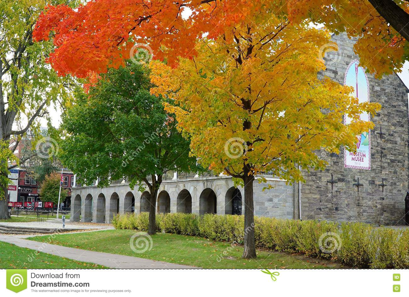 Fall Foliage Colors In Fredericton, Canada Editorial Photo - Image ...
