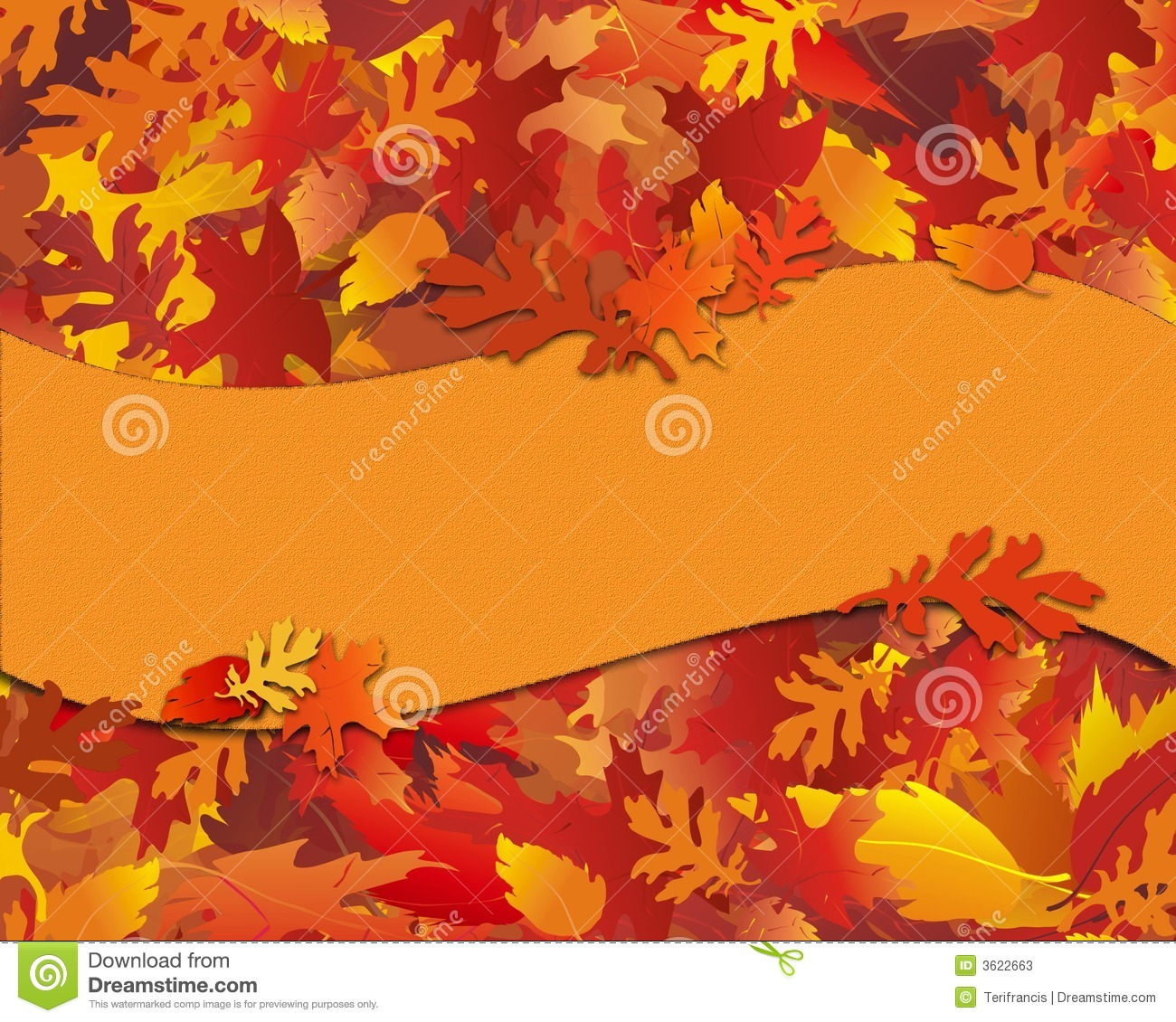 Fall Foliage Notecard With Banner Stock Photos Image