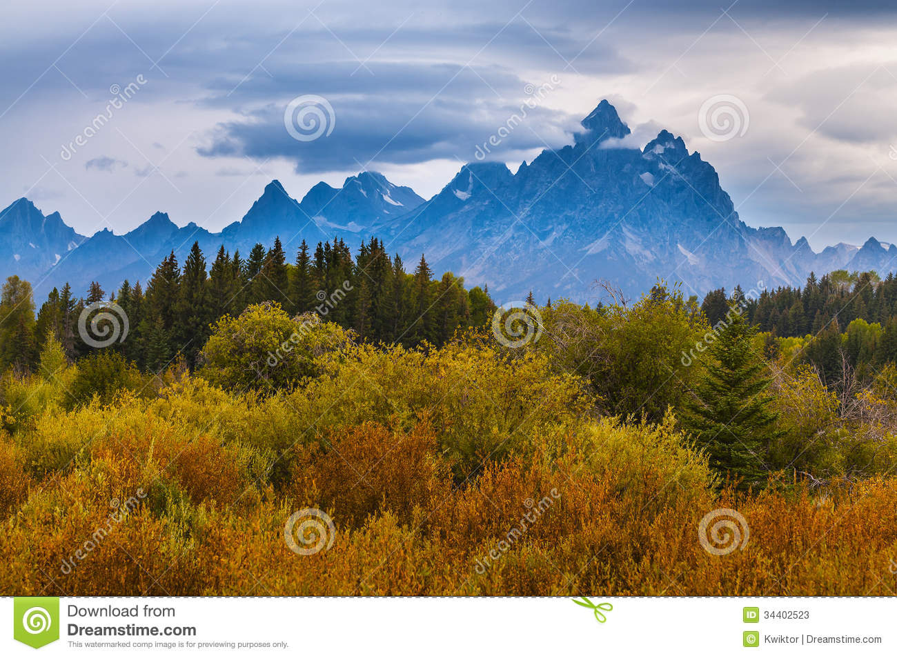 Fall In Grant Tetons National Park Stock Photos - Image: 34402523
