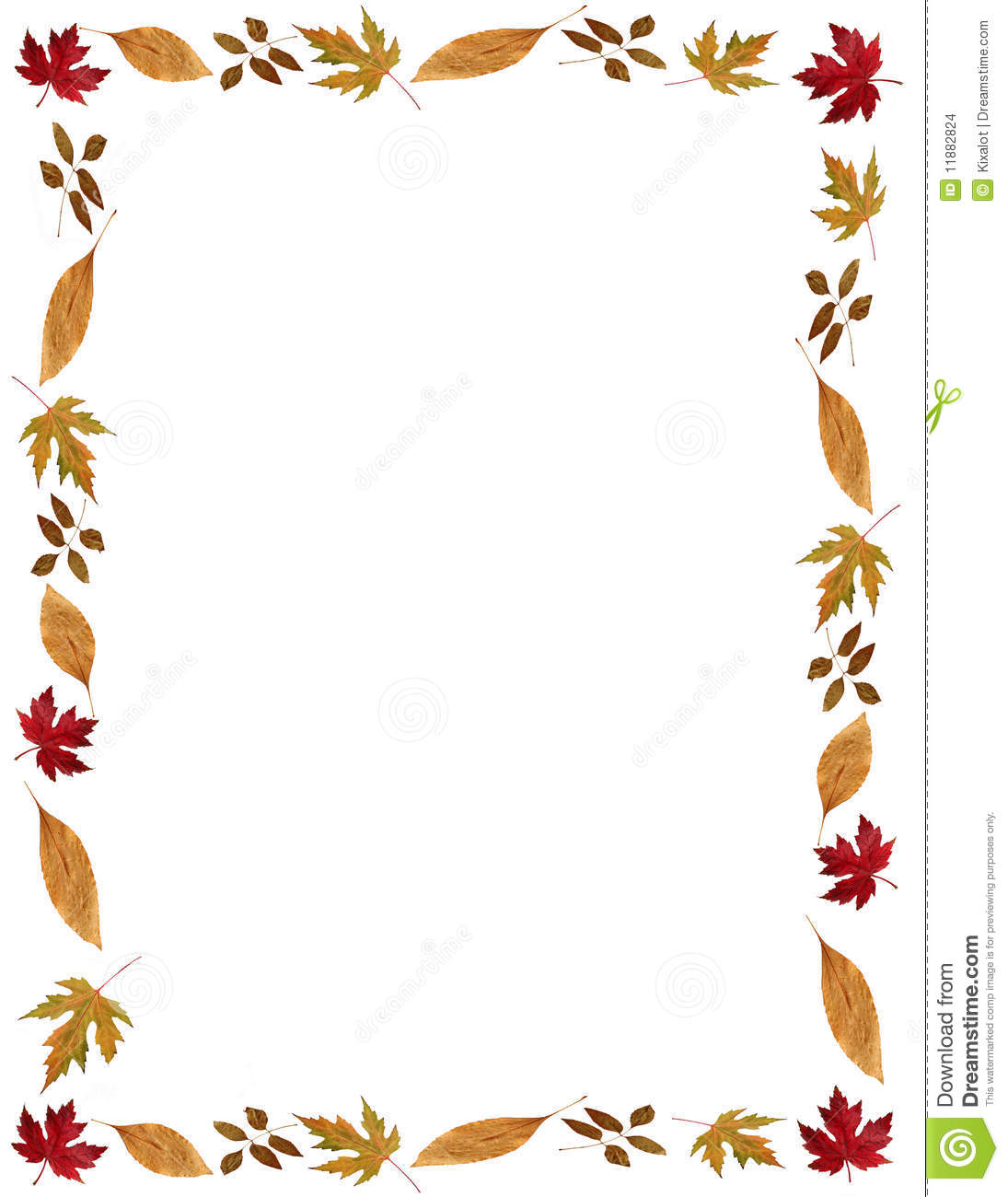 Fall Holidays Leafy Frame Or Border Stock Images Image