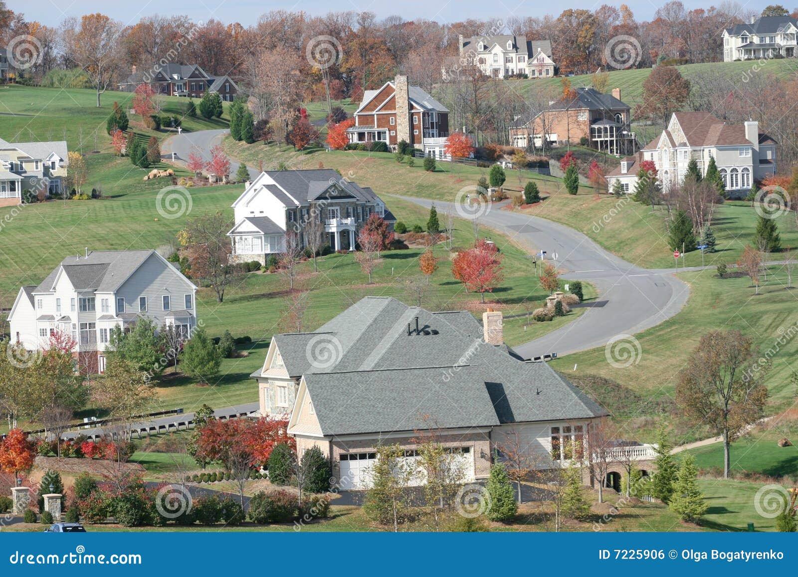 Fall homes houses luxury season upscale