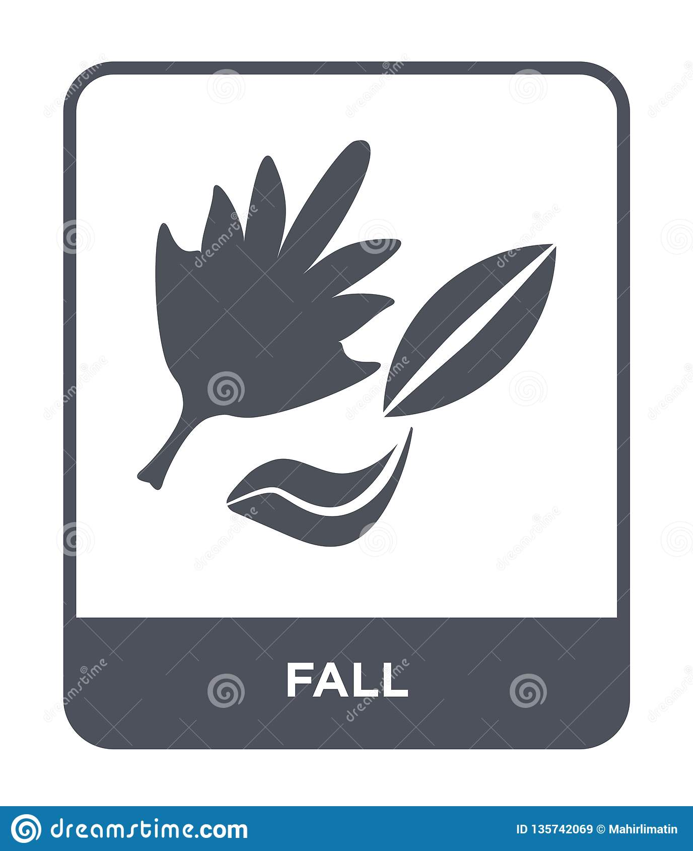 fall icon in trendy design style. fall icon isolated on white background. fall vector icon simple and modern flat symbol for web