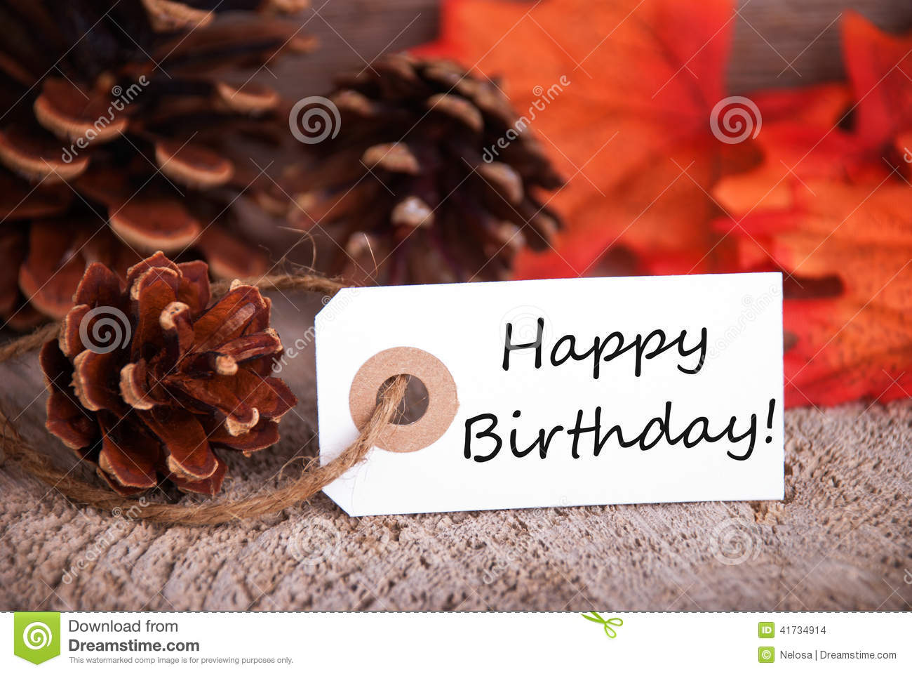 happy birthday fall Fall Label With Happy Birthday Stock Photo   Image of birthday  happy birthday fall