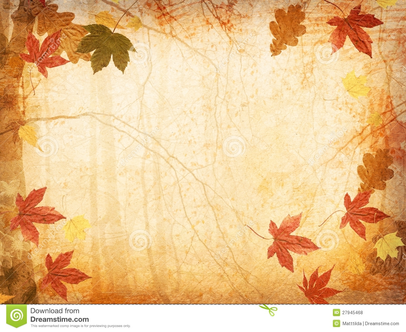 Fall Leaves Background stock photo. Image of fall, foliage ...